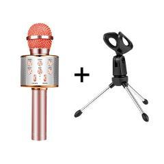 WS 858 bluetooth karaoke microphone wireless professional speaker consender handheld microfone radio mikrofon studio record mic