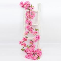 180cm Artificial Cherry Blossoms Flower Vines Party Supplies Garland Silk Fake Cherry Flower Rattan Wedding Home Decor