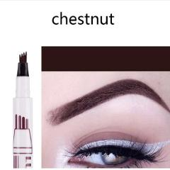 Brand New Eyebrow Pencil Waterproof Fork Tip Eyebrow Tattoo Pen 4 Head Fine Sketch Liquid Eyebrow Enhancer Dye Tint Pen