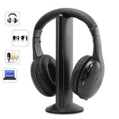 5 in 1 Headset Wireless Headphones Cordless RF Headset Earphones For TV DVD PC наушники блютуз наушники Wireless Earphones#E30