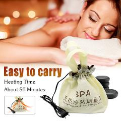 Natural Massage hot stone massage lava Natural Energy massage stone set hot spa rock basalt stone massage with heater bag 220V