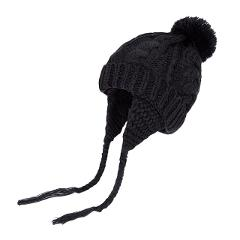 Baby Baby Pom pom Winter Hat For Boys Girls Ball Hat Knitting Pompon Headgear Warm Ear Guard Kids Hat Cap Drop Shipping