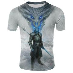 2019 Season 8 Game of Thrones Cosplay T-shirt Stark Letters Winter is Coming Cos Tops Cotton Top Cool O-neck Quality Plus Size