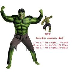 VEVEFHUANG Super Hulk Costume Kids Boys Incredible Children's Superheroes Avengers Hulk Halloween Muscle Green Cosplay Jumpsuits
