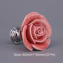 1PC Lovely pink Ceramic Door Handles Kids' Furniture Knobs and Handles Kitchen Cabinet Cupboards Drawer Pulls