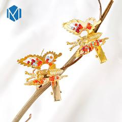 M MISM 1Pcs /2 Pcs Girls Lovely Hollow Out Bow Butterfly Hairpins Headpiece Barrettes Hair Accessories Hair Clip For Children