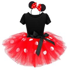 Baby Girls Minnie Mickey Dress Kids Mini Mouse Costume Toddler Children Party Birthday Ballet Clothes Princess Summer Dresses