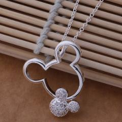 AN671 925 stearling silver Necklace 925 silver fashion jewelry pendant  Mouse /bplakgsa bahajroa