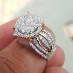 Aphseem Luxury Crystal Wedding Rings For Women Men Sky Star Couple Engagement Rings Fashion Jewelry Party Gifts Bijoux