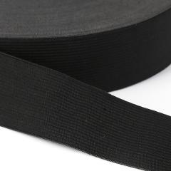 5yards/lot Flat wide black white stretching elastic band For clothes pants clothing rubber nylon webbing garment sewing material