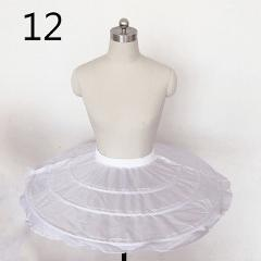 JIERUIZE Wedding Petticoat Crinoline Slip Underskirt Short Dress Cosplay Petticoat Little Girl Petticoat