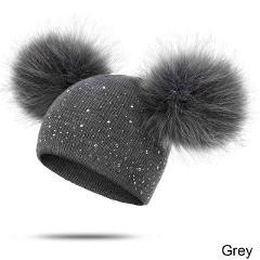 MOLIXINYU Children Hat Toddler Kids Baby Warm Winter Wool Hat Knit Beanie Fur Pom Pom Hat Baby Boys Girls Cap 1-3Y Drop Shipping