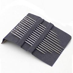 12pcs Sewing Needles Side Opening Sewing Household Tools Hand Darning Needles Stainless Steel Multi-size to Old man Blind person