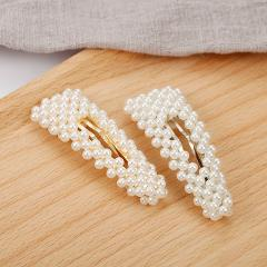 Match-Right Pearl Hair Clip Pins Styling Ornaments Crab Hairpin for Bride Wedding Hair Accessories Barrette Tiara YJZ8187