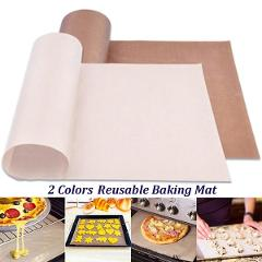 1Pcs 60*40 cm Reusable Baking Mat, High Temperature Resistant Sheet, Heat-Resistant Pad, Non-stick, for Outdoor BBQ