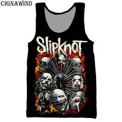 New fashion vest men/women hip hop band Slipknot 3D printing vests casual Harajuku style streetwear Bodybuilding Tops