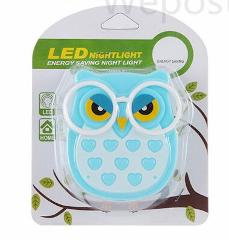 Mini Owl Led Night light Auto Sensor Light Control Lamp EU US Plug Child Kids Baby Lighting Room Lamp Animal Socket veilleuse