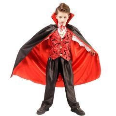 Scary Vampire Dracula Boys Fantasia Halloween Cosplay Carnival Party Kids Child Earle Dracula Gothic Vampire Costume