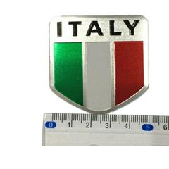 Aluminum Italy Map National Flag Car Sticker Auto Styling EURO LOGO Automobiles motorcycle fuel tank bicycle stickers