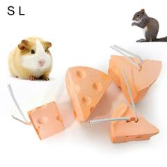 Pet Rabbit Hamster Cheese Shape Teeth Grinding Mineral Molar Stone Toy