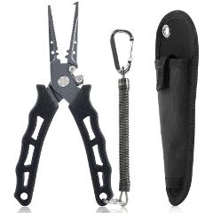 Japan's original multi-functional stainless steel road pliers, hook-pulling pliers, iron plate, sea fishing pliers, line shears,