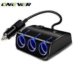 3 Ways 120W Universal Car Cigarette Lighter Sockets Splitter Power Adapter Dual USB Charger 3.1A Output  For All Phone And iPad