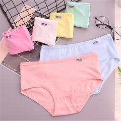 Big Girls Teenager Solid Color Kid Girls Panties Underwear Girl Briefs Cotton Lingerie Soft Comfortable Panties Briefs