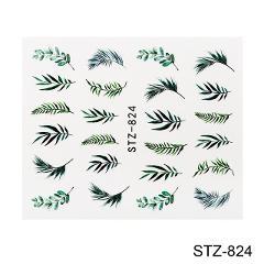 2019 Hot Sale 3D Nail Sticker Black Color Flamingo Design Sticker Manicure Nail Decoration