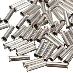 100pcs Ferrules Ends Non-Insulated Wire Strip Copper Ferrules Mayitr Cable Housing Ferrules End 0.5mm2-6.0mm2