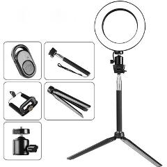 "8"" LED SMD Dimmable Ring Light with Stand for Makeup Phone Camera Selfie Live"