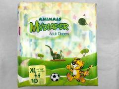 Adult Nappy / Diaper MyDiaper Animals - Extra Large - Pack of 10