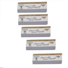 5 x Hornet Rolling Paper Filter Tips 50 leaves 60*21MM Natural White Unrefined Hornet Rolling Paper Filter Tips 50 leaves#30