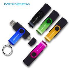 Moweek USB Flash Drive 2017 new cle usb stick 128G otg pen drive usb 2.0 Smartphone Pendrive 4/8/16/32/64G storage devices gift
