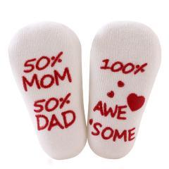 Cute Sentences Infant Baby Socks Combed Cotton Baby Socks Infant Toddler Anti Slip Socks 0-1 years 2019 New Arrival