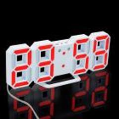 Modern Digital LED Table Desk Night Wall Clock Alarm clocks USB 24 or 12 Hour Display u70815