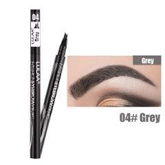 LULAA 2 In 1 Four Fork Liquid Eyebrow Pencil Microblading Eyebrow Pen Waterproof Brown Tattoo Eyebrow Crayon Sourcils TSLM2