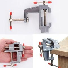 Aluminum Miniature Small Jewelers Hobby Clamp On Table Bench Vise Mini Tool Vice Muliti-Funcational