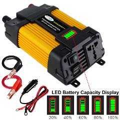 4000/6000W Solar Car Power Inverter Voltage transformer DC12 To AC110/220V Sine Wave Converter 2USB Interfaces Home Appliances
