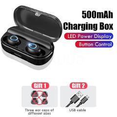 Bluetooth 5.0 Wireless Earphones Headphones Sport Waterproof 9D Hifi Stereo Earbuds Headset With Microphone 2000mAh Charging Box