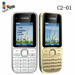 Original Nokia C Series C2-01 3G RM722 Hebrew keyboard Unlocked Mobile Phone