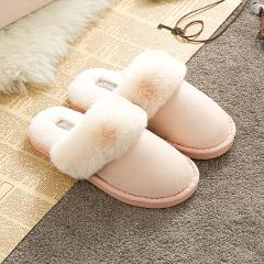 2019 New Arrival  Women Wintere Slippers Pure Color Indoor Bedroom Lovers  Shoes  Fashion Warm Shoes  Flat Flat Non-slip Slipper