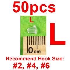 Bimoo 50pcs/pack Clear Soft Carp Fishing Hook Stoper on Sliding Hooks Holder Terminal Tackle Rubber Pop Up Set Up Rig Shank Bead