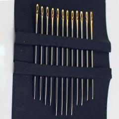 12 pcs/1 set Elderly needle-side hole blind needle Stainless Steel Sewing Needless threading hand household sewing