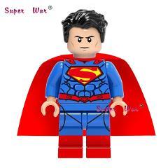 1pcs  super hero dc comics Justice League SuperMan building blocks models bricks toys for children brinquedos menina