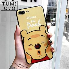Cartoon Winnie Pooh Soft Silicone Case for Samsung Galaxy A6 A8 J4 J6 A7 2018 A750 A3 A5 J3 J5 J7 2016 2017 S9 S8 Plus S7 Edge
