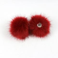 2019 Fur Pom Pom DIY Fake Fox fur ball key chain porte clef pompom de fourrure fluffy Fur Pompoms Hats Accessories for Knitting