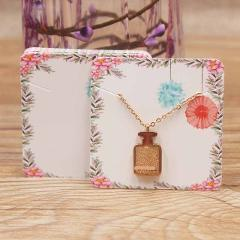 24designs Fashion Jewelry Display Necklace charms package card 50pc kraft Dreamcatcher /marble style pendant display tag card