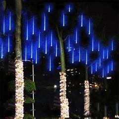 50CM LED Meteor Shower Rain Tube Lights 8 Tubes Garland Christmas Trees Decoration Lamp Home Garden Park Street Decor