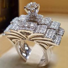 2Pcs Bridal Set Elegant rings for Women Sliver Color Wedding Engagement fashion Jewelry With Full Shiny Cubiz Zircon female ring