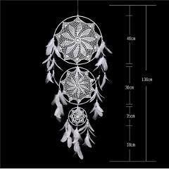 1PC Wedding Hanging Dream Catcher Large Circle DIY Decoration Craft Shabby Chic Home Decor Feather Bedding Dreamcatcher For Sale